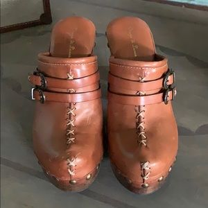 Diego di lucca heeled mule clogs sz 9